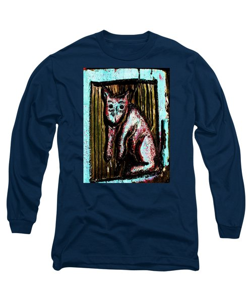 Long Sleeve T-Shirt featuring the photograph The Cat by John King