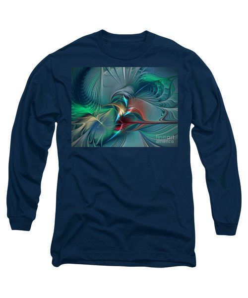 The Center Of Longing-abstract Art Long Sleeve T-Shirt