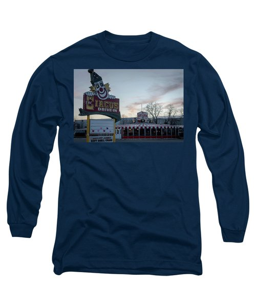 Long Sleeve T-Shirt featuring the photograph The Circus Drive In Wall Township Nj by Terry DeLuco