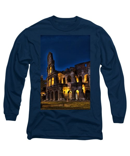 The Coleseum In Rome At Night Long Sleeve T-Shirt