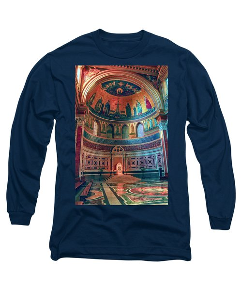 The Colorful Interior Of Roman Catholic Cathedral Long Sleeve T-Shirt