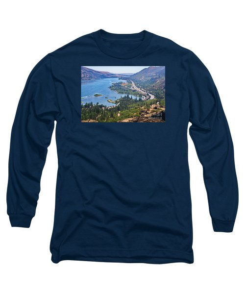 The Columbia River In The Gorge Long Sleeve T-Shirt by Ansel Price