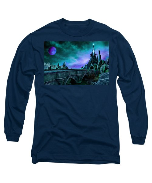 Long Sleeve T-Shirt featuring the painting The Crystal Palace - Nightwish by James Christopher Hill