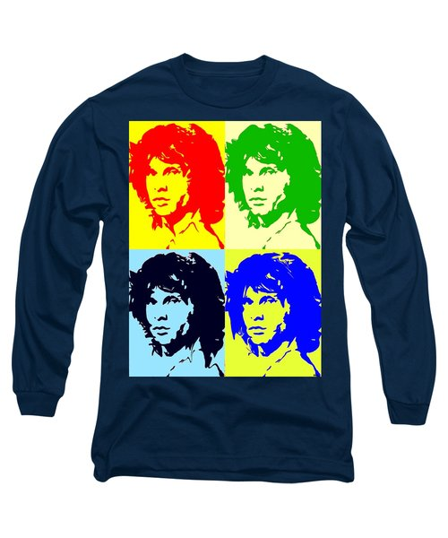 The Doors And Jimmy Long Sleeve T-Shirt by Robert Margetts