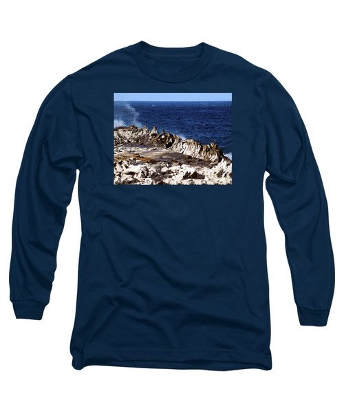 The Dragons Teeth II Long Sleeve T-Shirt by Patricia Griffin Brett