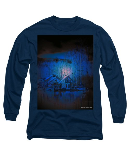 The Edge Of Night Long Sleeve T-Shirt by Steve Warnstaff