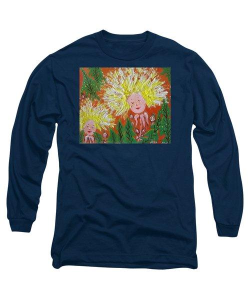 Family 2 Long Sleeve T-Shirt by Rita Fetisov