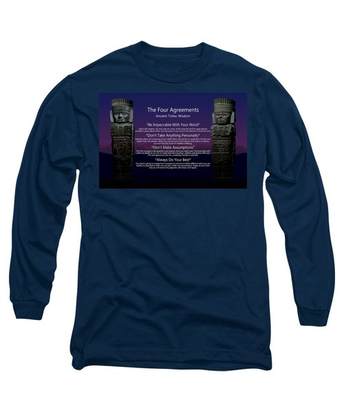 The Four Agreements Poster Long Sleeve T-Shirt