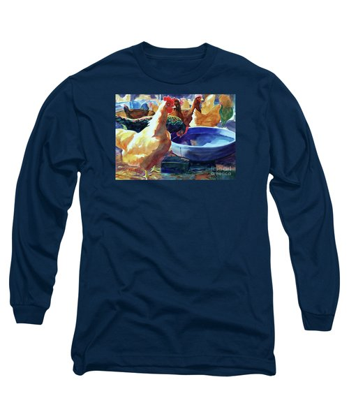 The Henhouse Watering Hole Long Sleeve T-Shirt by Kathy Braud
