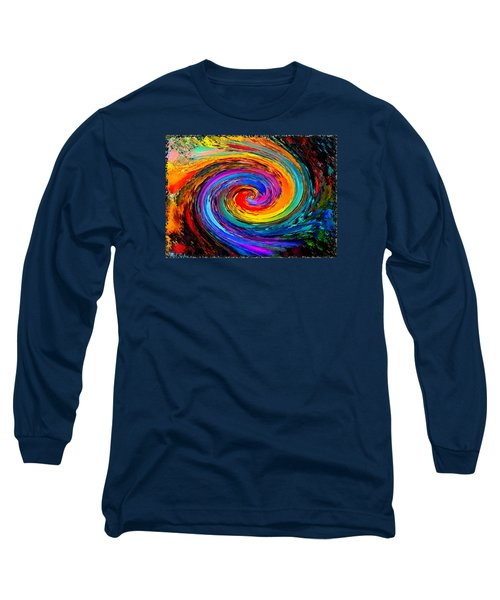 The Hurricane - Abstract Long Sleeve T-Shirt by Michael Rucker