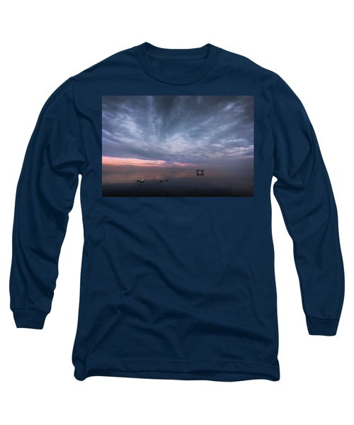 The Journey Of The Swans Long Sleeve T-Shirt by Dominique Dubied