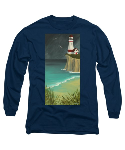 The Lighthouse On The Cliff Long Sleeve T-Shirt