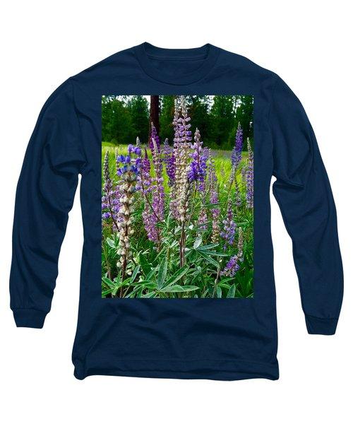 The Lupine Crowd Long Sleeve T-Shirt by Jennifer Lake