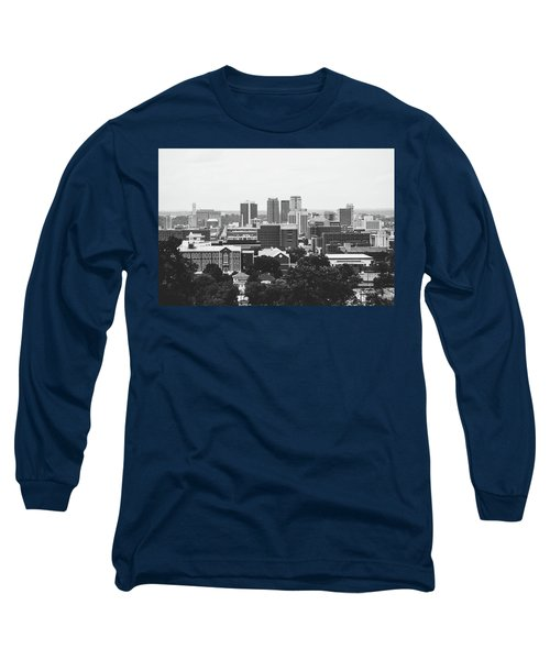 Long Sleeve T-Shirt featuring the photograph The Magic City In Monochrome by Shelby Young