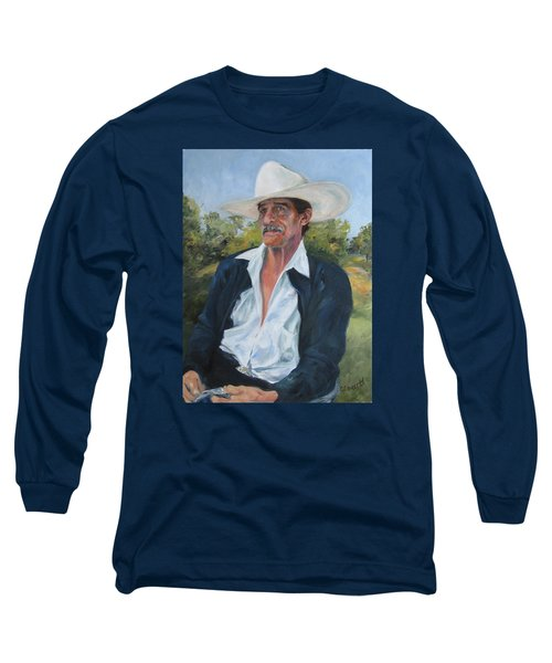 The Man From The Valley Long Sleeve T-Shirt by Connie Schaertl
