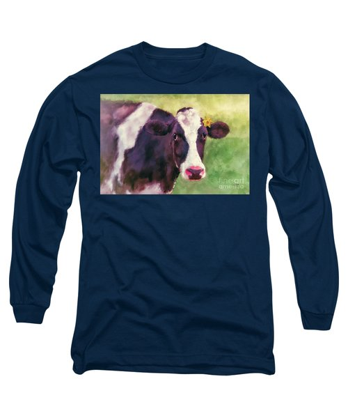 Long Sleeve T-Shirt featuring the photograph The Milk Maid by Lois Bryan