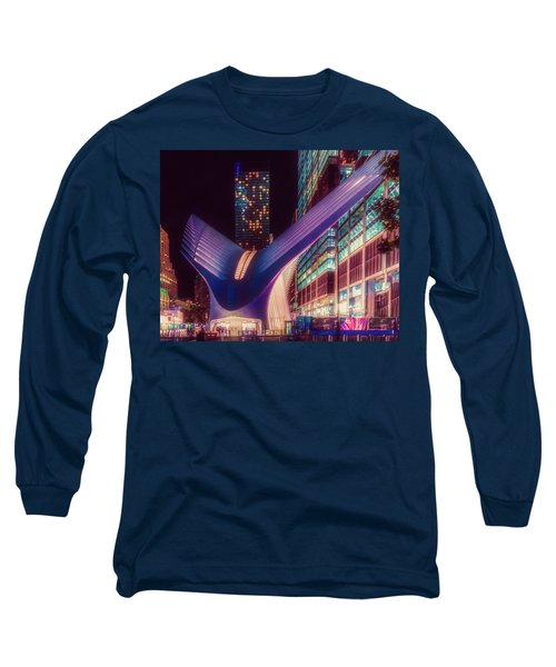 Long Sleeve T-Shirt featuring the photograph The Occulus At Midnight by Chris Lord