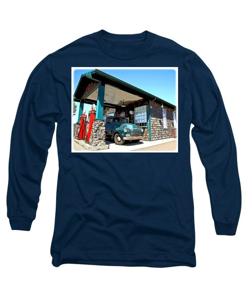 The Old Texaco Station Long Sleeve T-Shirt by Steve McKinzie