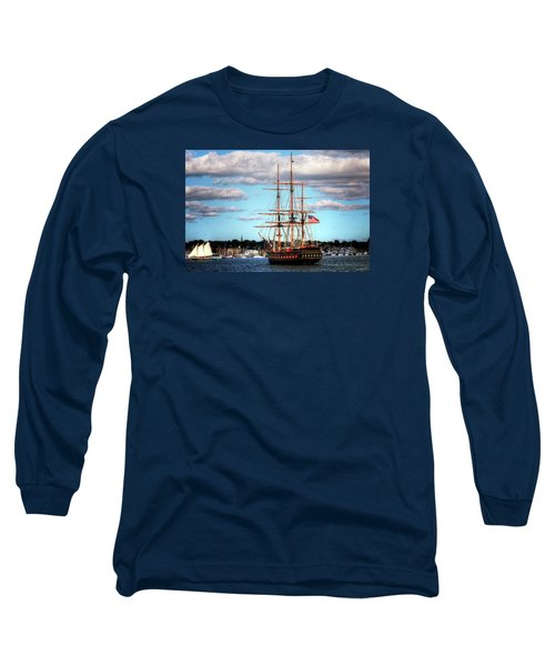 Long Sleeve T-Shirt featuring the photograph Tall Ship The Oliver Hazard Perry by Tom Prendergast