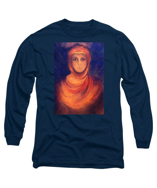 Long Sleeve T-Shirt featuring the painting The Oracle by Marina Petro