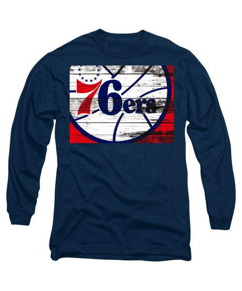 The Philadelphia 76ers 3e       Long Sleeve T-Shirt by Brian Reaves
