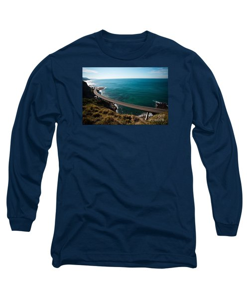 The Road Above The Sea Long Sleeve T-Shirt by Bev Conover