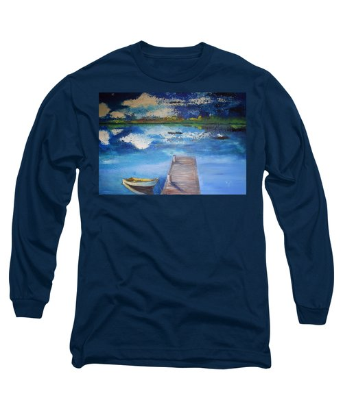 Long Sleeve T-Shirt featuring the painting The Rowboat by Gary Smith