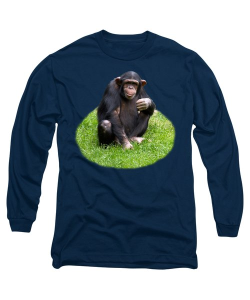 The Smiling Chimp Transparent Long Sleeve T-Shirt