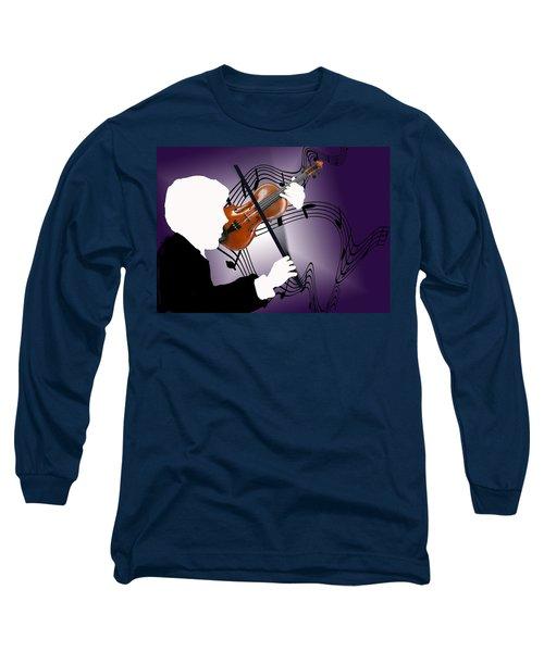 Long Sleeve T-Shirt featuring the sculpture The Soloist by Steve Karol