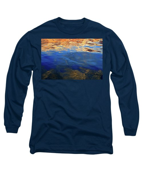 The Surface Is A Reflection  Long Sleeve T-Shirt by Lyle Crump