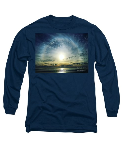 The Voice Of The Lord Is Over The Waters... Long Sleeve T-Shirt by Sharon Soberon
