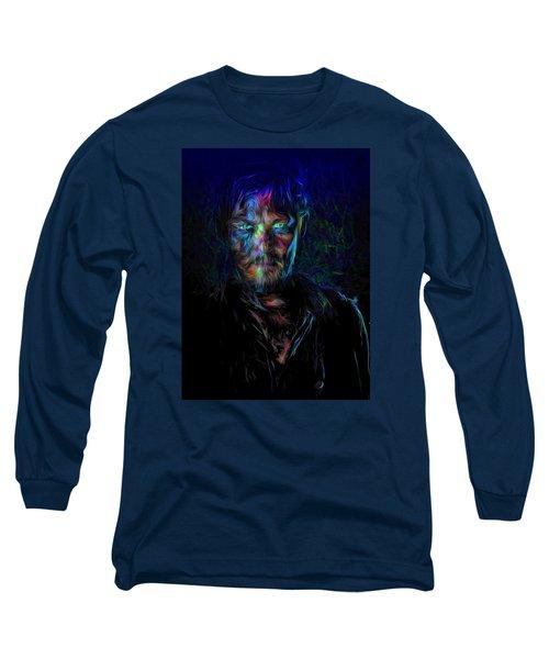 The Walking Dead Daryl Dixon Painted Long Sleeve T-Shirt by David Haskett
