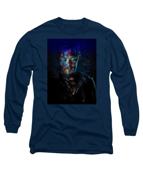 The Walking Dead Daryl Dixon Painted Long Sleeve T-Shirt