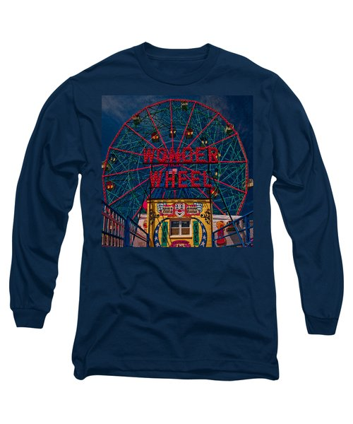 The Wonder Wheel At Luna Park Long Sleeve T-Shirt