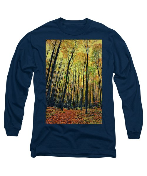 Long Sleeve T-Shirt featuring the photograph The Woods In The North by Michelle Calkins