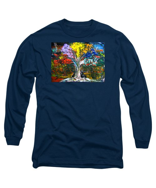 The World Moves For Love By Colleen Ranney Long Sleeve T-Shirt