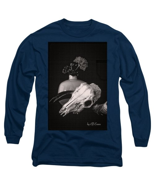 Thinking Of Georgia O'keeffe Long Sleeve T-Shirt by Elf Evans