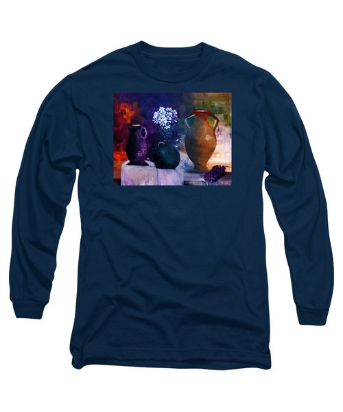 Long Sleeve T-Shirt featuring the painting Three Best Friends by Lisa Kaiser