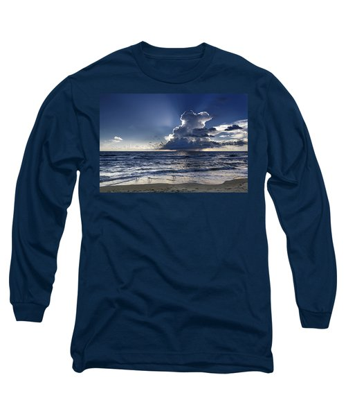Long Sleeve T-Shirt featuring the photograph Three Ibises Before The Storm by Steven Sparks