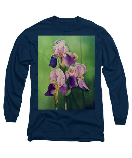 Three Iris Long Sleeve T-Shirt