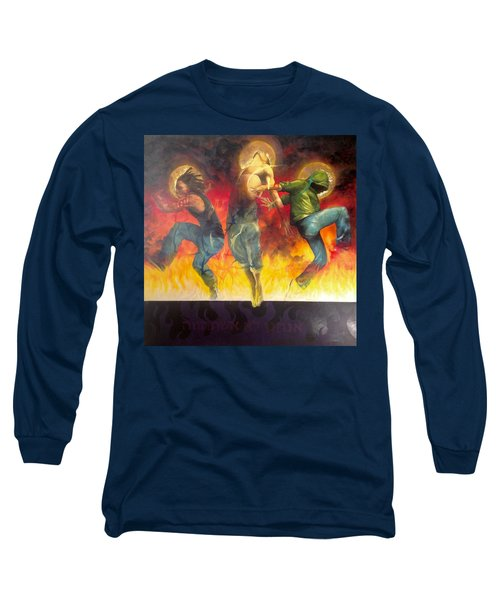 Through The Fire Long Sleeve T-Shirt by Christopher Marion Thomas