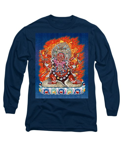 Tibetan Thangka Remake - Hayagriva Long Sleeve T-Shirt