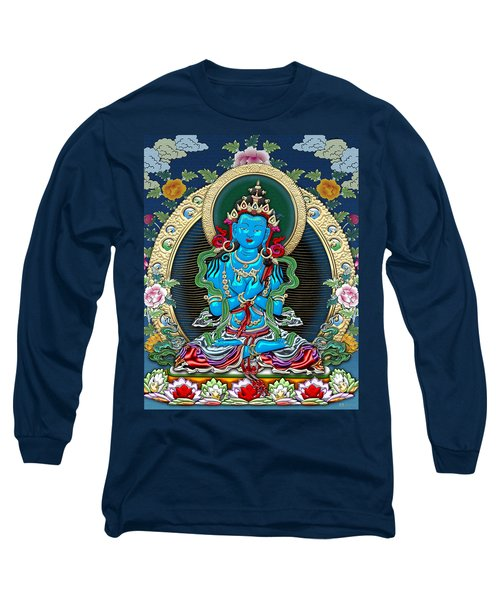 Tibetan Thangka -  Vajradhara Long Sleeve T-Shirt