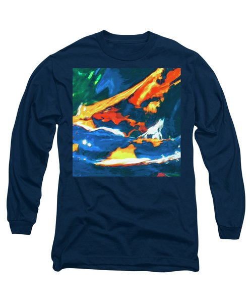 Long Sleeve T-Shirt featuring the painting Tidal Forces by Dominic Piperata