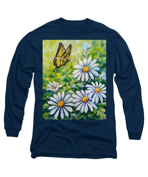 Tiger And Daisies  Long Sleeve T-Shirt