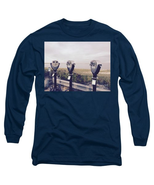 To See The Sea Long Sleeve T-Shirt by Beth Saffer