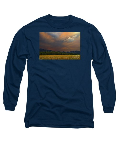Tormented Sky Long Sleeve T-Shirt by Mitch Shindelbower