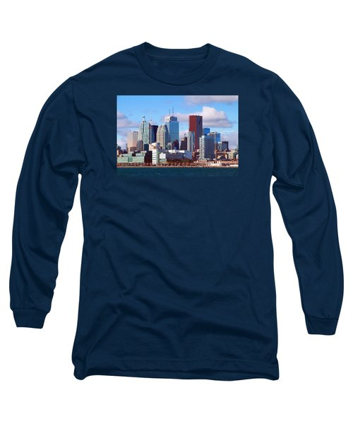 Long Sleeve T-Shirt featuring the photograph Toronto Core by Valentino Visentini