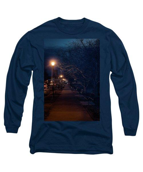 Town Street A Night Long Sleeve T-Shirt