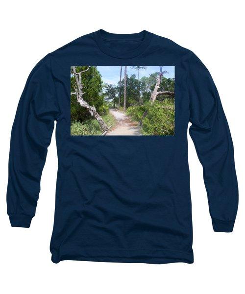 Trail On Hunting Island Long Sleeve T-Shirt